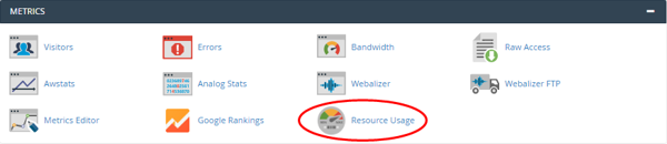 cPanel - Metrics - CPU usage