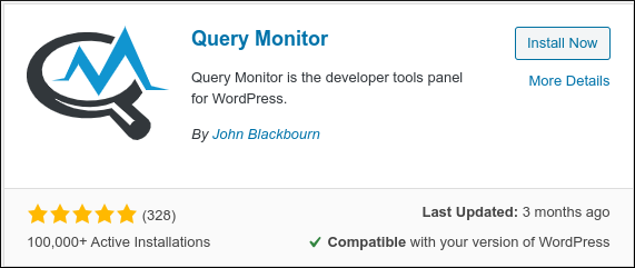 WordPress - Query Monitor install